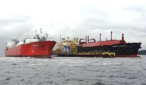 Angolan LNG arrival: Photo credit Angola LNG