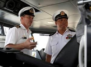 Bridge HMAS Childers: Photo credit RAN