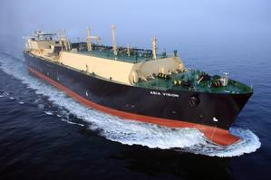 The Asia Vision is one of Chevrons new liquefied natural gas (LNG) carriers constructed to support the companys growing LNG operations. (Photo: Business Wire)