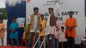 A skit on safety and  risk management being presented during the Global Safety Day celebrations at APM Terminals Inland Services' CFS in Mumbai Photo APM Terminals