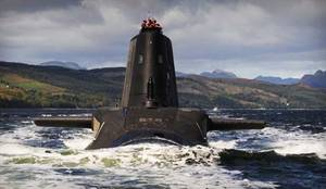 RN Astute-class submarine: Photo credit MOD