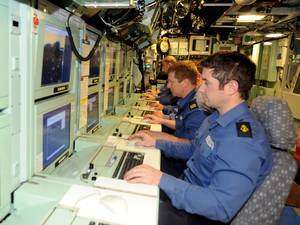 Control Room HMS Astute: Photo credit MOD