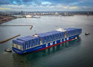 CMA CGM Benjamin Franklin (Photo: Port of Long Beach)