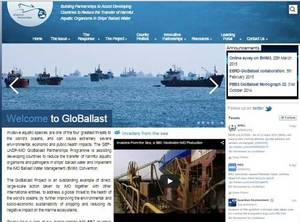 The revamped GloBallast website offers free access to online e-learning tools for anyone involved with the operational aspects of ballast water management. (Image: IMO)