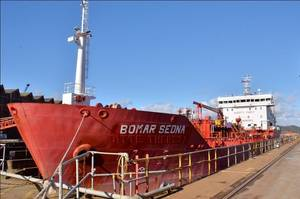 Product Tanker Bomar Senda in A&Ps Drydock: Photo credit A&P Falmouth