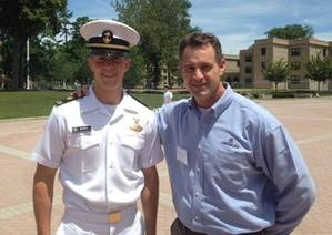 USMMA Midshipman Kevin Berto and Bren Wade, Crowleys manager for marine compliance
