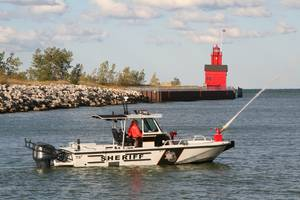 Boston Whaler 27 Vigilant patrol boat: Photo credit Brunswick Commercial & Government Products