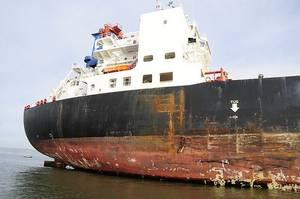 Damage to Overseas Reymar: Photo credit USCG
