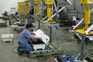 Building of Class B Single Lift Equipment (Photo courtesy Tideland Signal)