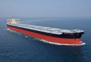 Bulk carrier of the type featuring the NSafe-Hull