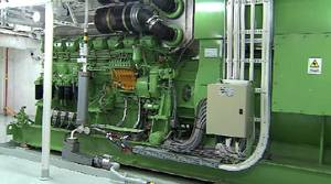 Emergency Diesel Generator: Photo credit Carnival