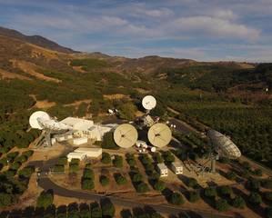 COMSAT teleport at Santa Paula, CA.  (Photo: COMSAT)