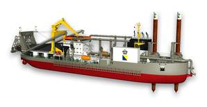 Cutter Suction Dredger: Image courtesy of IHC Merwede