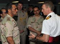 Capt Guy Robinson Shows Saudi Naval Personnel Around: Photo credit MOD