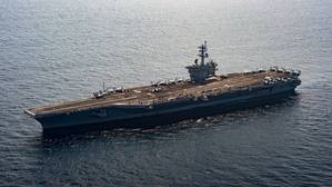 Official U.S. Navy file photo of The aircraft carrier USS Carl Vinson (CVN 70) transits the South China Sea. (U.S. Navy photo by Mass Communication Specialist 3rd Class Devin M. Monroe