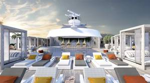 """The Retreat"" is an ultra-exclusive private utopia reserved exclusively for Suite Class guests featuring a luxurious pool and sun chairs for ultimate relaxation. Photo: Celebrity Cruises"