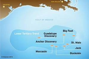 Anchor is located approximately 140 miles (225 km) off the coast of Louisiana. (Image: Chevron)