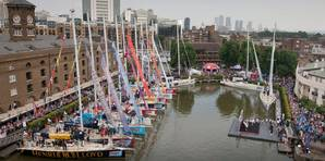 As anticipation builds for the start of the tenth edition race, the long awaited opening of the Race Village at St Katharine Docks, London. Photo: Clipper Round the World Yacht Race