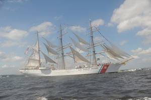 USCG Tall Ship Eagle: Photo credit USCG