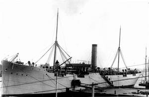 USS Merrimac at the Norfolk Navy Yard, Portsmouth, Virginia in 1891 (Photograph from the Bureau of Ships Collection in the U.S. National Archives)