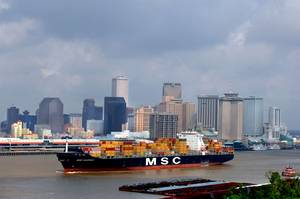 A Containership passes the Port of New Orleans (courtesy Port of New Orleans)