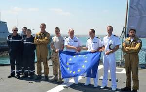 Courbet/Surcouf Handover Ceremony: Photo credit EU NAVFOR