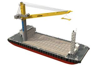 Damen Crane Barge
