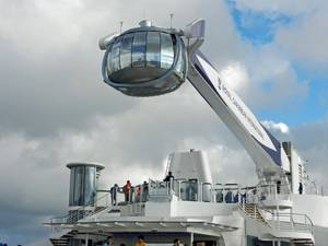 Crane and observation gondola called the North Star. It will lift guests 91m above sea level to give them panoramic views of the ship