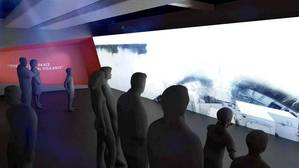 Artists impression of the Immersive Cinema Experience: drama, danger and suspense on the big screen with a pumping soundtrack to set the scene. (Image: Australian National Maritime Museum)