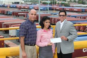 Sholarship award: Photo credit Crowley Maritime Corp.