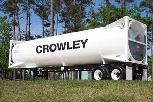 LNG mobile tank: Photo courtesy of Crowley