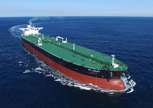 DHT Jaguar, the first in a series of six VLCC newbuilds for DHT, was delivered in November 2015. Sister ship DHT Leopard was delivered today. (Photo: DHT Holdings)