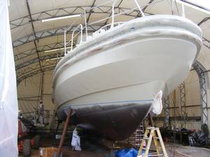 The pilot boat Connor Foss under construction.