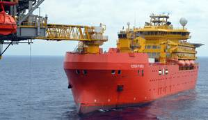 Over eight months during 2012 – 2013, we operated the Edda Fides in the Bass Strait between south east Australia and Tasmania on the KTT (Kipper Tuna Turrum) project, the largest domestic  gas  development on the eastern seaboard of Australia at the time.  The charterer was McDermott Australia and the client was Esso Australia where we served as accommodation unit for up to 400 workers doing upgrade on the Marlin B platform. The project started in June 2012 and was successfully completed in Feb
