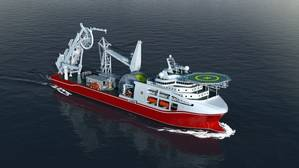 To be equipped with a suite of GE's marine technologies, Shanghai Salvage Bureau's newest deep-water diving support vessel (DSV) will become the world's first-class deep-water DSV with a multi-saturation diving system and pipe lay system. (Photo: GE Marine)