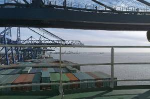 Container ship deck: Image courtesy of Danaos