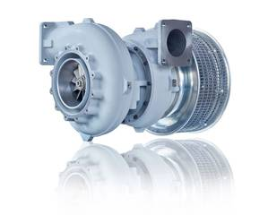 Dedicated turbocharger designed and optimized for marine auxiliary engines