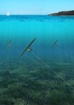 Deep Green tidal array. (Image: Minesto)