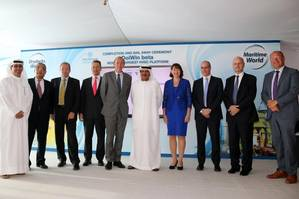 DolWin beta completion - DDW, Aibel, ABB, Mitsubishi and TenneT officials with the godmother.jpg