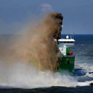 Dredger at work: Image courtesy of IHC Merwede