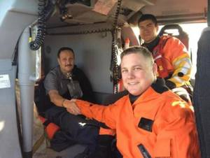 Patient & PO Ulrich: Photo credit USCG