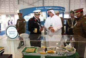 Drydocks World stand at NAVDEX.