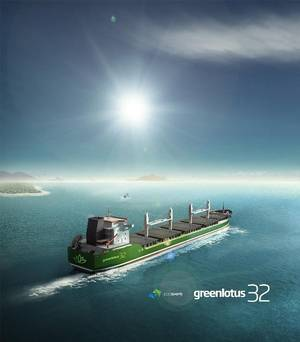 Artist's impression of Ecoships' Eco-Smart Greenlotus 32