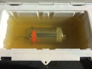 El Faro voyage data recorder in fresh water on the USNS Apache (Photo: NTSB)