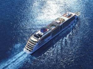 An aerial view of the Europa 2 at sea (Photo: Hapag-Lloyd Cruises)