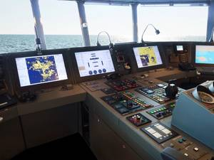 Example of a Synapsis INS, installed on a research vessel. (Photo: Raytheon Anschütz)