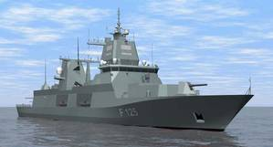 An artist rendering of the F125 frigate