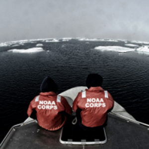 Two NOAA Corps Officers aboard Fairweather: Photo credit NOAA