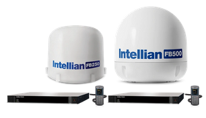 FB250R and FB500R FleetBroadband terminals have received final approval from Inmarsat for use with the Fleet Xpress (FX) service  Photo Intellian Technologies
