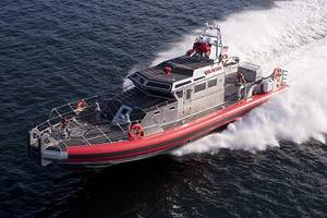 The FDNYs fireboat, the Bravest.Photo: RESOLVE
